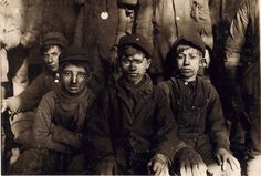 Breaker Boys. 1911 #breaker #sepia #photography #industry #vintage #boys #workers