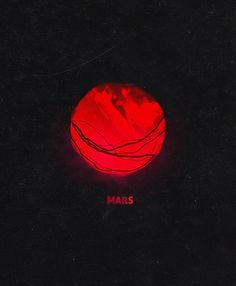 Mars_ bynerve #mars #illustration #danielcantor