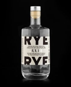 rye #white #bottle #packaging #rye #alcohol #b&w #liquor #black #glass #and