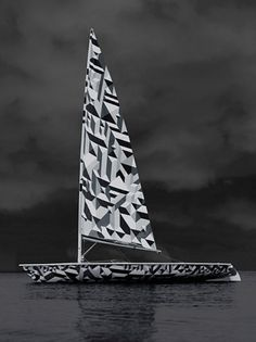 Wallpaper* Laser Sailboat | Marian Bantjes #bantjes #modular #sailboat #vector #marian