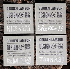 Hand-crafted Business Cards « The Blog of G. Lamson