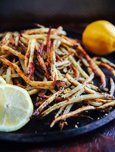 Baked Lemon Pepper French Fries #fries