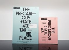 Felix Weigand - The Precarious State, Invitations for exhibition series of SKOR, Amsterdam, 2009 #typeography #poster