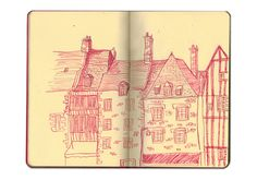 Cambridge Illustration - Katherine Costin #line #ink #sketchbook #illustration #drawing