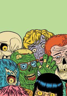 Kristian Hammerstad : Kristian Hammerstad #hammerstad #illustration #kristian #zombie #skull