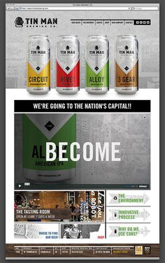 Tin Man Brewing Website #site #beer #web