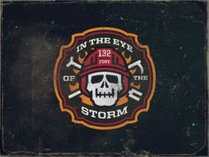 Dribbble - Firehouse Logo by Matt Kauzlarich #firehouse #illustration #fireman #skull