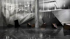 one plus partnership: chongqing mountain + city sales office #facets #lights #architecture #installation