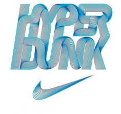 Nike Hyper Dunk on the Behance Network #type #typography