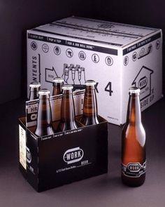 WORK Beer- TheDieline.com - Package Design Blog #packaging #beer