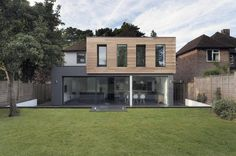 Glass and Timber Addition to a 1950′s Hampshire House by AR Design Studio