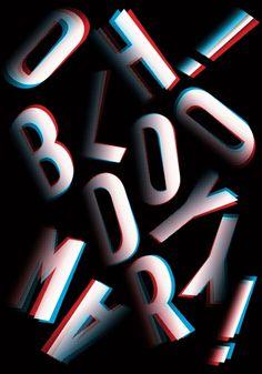 arialcrime's tumblr #typografie #3d #poster
