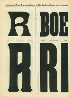 Hamilton Wood Type Catalog #14 #type