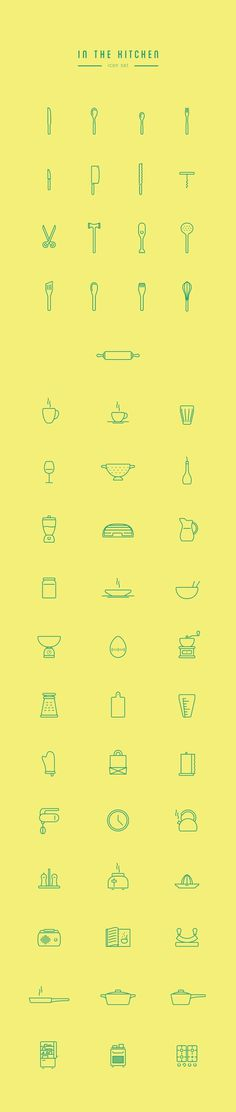 Free High Quality Kitchen Line Icon Set by Wojciech Zasina
