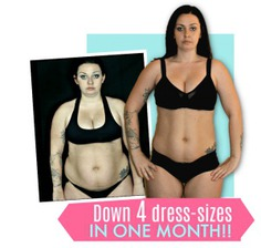 Carly Donovan loses 4 dress sizes down in one month