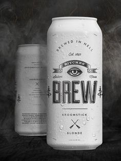 Brew Can Packaging #illustration #type #packaging #beer #can #brew