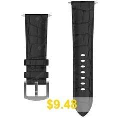 Kospet #Leather #Strap #Watch #Band #- #BLACK