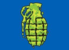 work_grenade_t-shirt_0708_07.jpg #slime #draplin #grenade #green