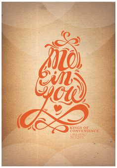 """Me in You"" for Kings of Convenience #peru #kings #lima #convenience #of #poster #concert #typography"
