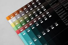Predictions : Tim Wan : Graphic Design #calendar #color #number #gradient #typography