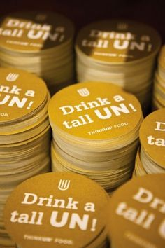 design work life » cataloging inspiration daily #branding #cardboard #yellow #food #identity #circle #coaster