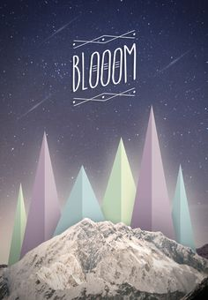 Blooom #illustration #stars #photoshop #poster #music #type