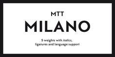 MTT Milano Font Family - Mattia Bonanomi #font #typeface