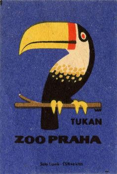 Tukan, Zoo Praha by Solo Lipnik #illustration #vintage #tukan #bird #iconic #minimal #bird #zoo