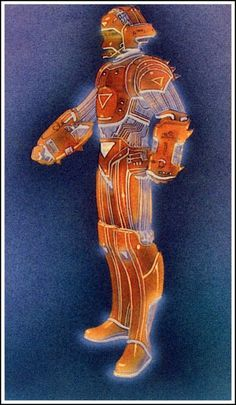 Original TRON concept art and costume #tron #design #costume #concept #art