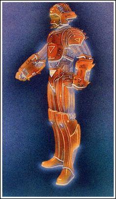 Original TRON concept art and costume