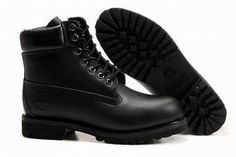 Timberland 6 Inch Waterproof Boots Black Grain Surface Import Cowhide Mens #shoes