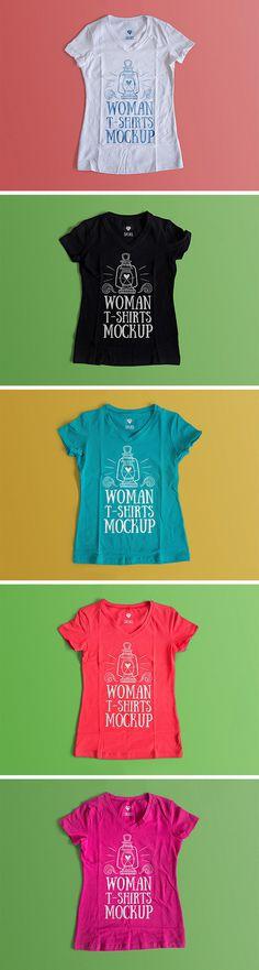 Free Woman T-Shirt #Mockup
