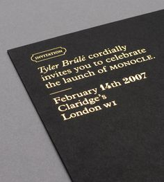 Modern Publicity Brand New Website #print #stationary #monocle #invite #foil stamp #foil block