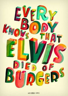 Design Work Life » cataloging inspiration daily #lettering #elvis #burgers #drawn #hand