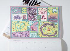 Illustration by Tobias Gutmann, publishedbyMilK Japanin the annualchildrenscalendar 2014. #card #business