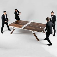 Beautiful wooden luxury deluxe Ping pong table tennis play sport handmade handcrafted by woolsey design inspiration blog mindsparkle mag www