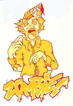 ZOMBIE - Benjamin Rider #amazing #red #yellow #illustration #zombie
