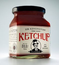 Sir Kensington's Gourmet Scooping Ketchup : Lovely Package® . Curating the very best packaging design. #alvin #ketchup #classic #diec #kensington #gourmet