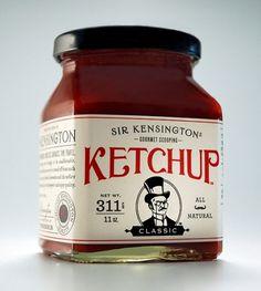 Sir Kensington's Gourmet Scooping Ketchup : Lovely Package® . Curating the very best packaging design. #alvin #ketchup #classic #diec #kensington #gourmet