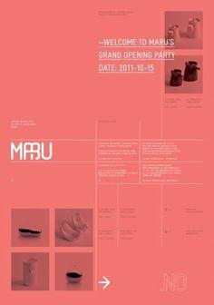 Maru « Design Bureau – Lundgren+Lindqvist #poster