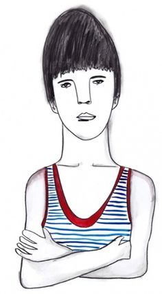 // A R I E L // L I K E S // Y O U // #boy #illustration #pencil #stripes