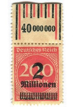 design done right. / Germany Postage Stamp: 2 millionen | Flickr - Photo Sharing! #postal #stamp #design #graphic