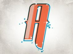 Dribbble - Letter Exercise by Justin Wilkinson #typograghy #letter #illustration #a