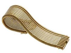 Bracelet: extraordinary, wide and heavy vintage gold wrought bracelet, 14K Gold