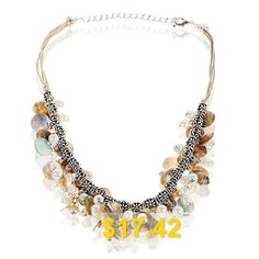 TX-1552N #Fashionable #Seashells #and #Faux #Pearls #Necklace #Neck #Chain #Neck #Ornament #for #Female #Woman