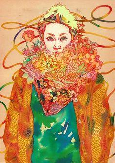 Juxtapoz Magazine - The Work of Natsuki Otani | Current #color #natsuki #otani #painting #art