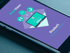 RetailVision // App 2 #flat #green #ux #icon #responsive #color #ui #app #mobile #purple #mac