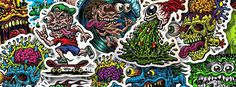 Jimbo Phillips stickers #inspiration #streetart #stickers