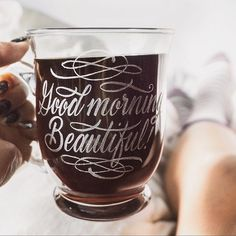 Good morning, beautiful - Lettering on mug by George Anzaldo