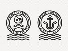 Dribbble - Mingo Lamberti by R A D I O #icon #anchor #illustration #sea #logo #skull